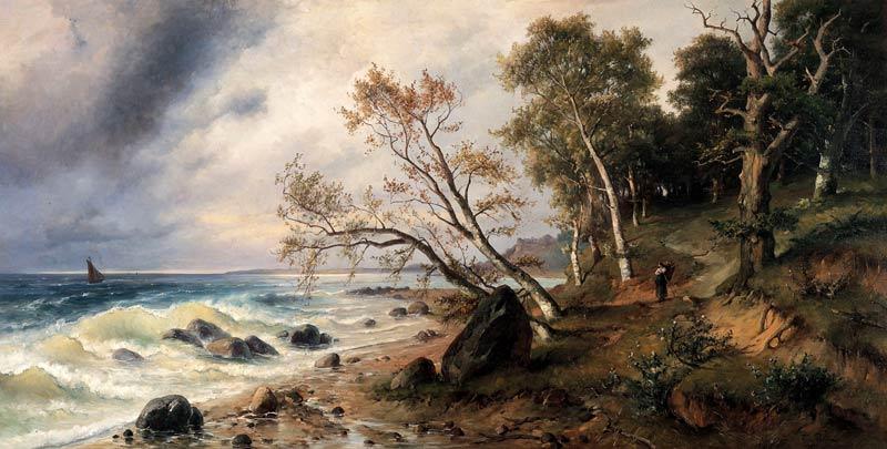 Ostseeküste auf der Insel Vilm von Friedrich Preller d.J.
