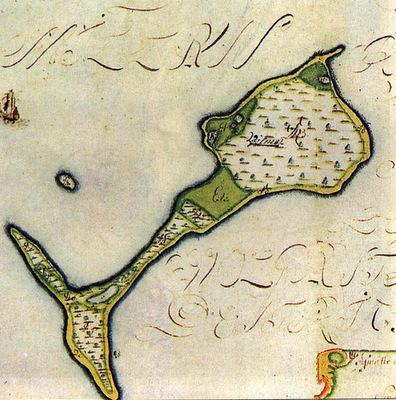 Karte der Insel Vilm von 1695